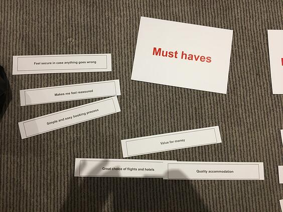 Focus group must haves